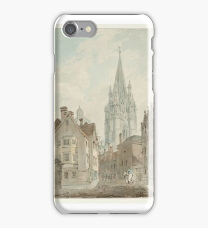 Joseph Mallord William Turner    Oxford St Mary's Church and the Radcliffe Camera from Oriel Lane iPhone Case/Skin
