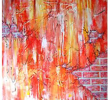 Red Brick Wall Photographic Print