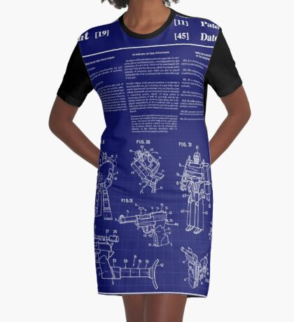 Megatron Patent Art & Text Graphic T-Shirt Dress