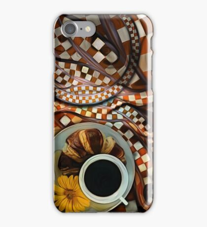 Midnight Never Ends, a Diner Shop Fractal Tribute to Coffee Conversations iPhone Case/Skin