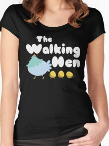 The Walking Hen Crazy Chicken Lady Women's Fitted Scoop T-Shirt