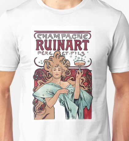 Vintage Alfons Mucha Champagne Ruinart Unisex T-Shirt