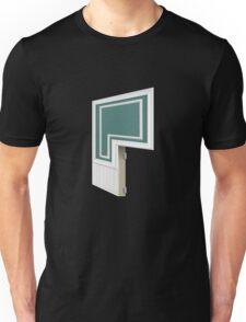 Glitch Homes Wallpaper darktealbaseboard molding right divide Unisex T-Shirt