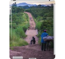 Rush hour in rural Mozambique iPad Case/Skin