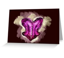 Overbust Magenta  Greeting Card