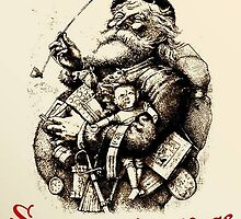 Merry Old Santa Claus Season's Greetings by taiche