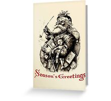 Merry Old Santa Claus Season's Greetings Greeting Card