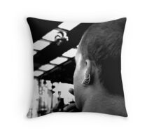 Pondering the Drones Throw Pillow