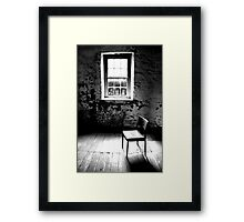 Mill Chair B+W Framed Print