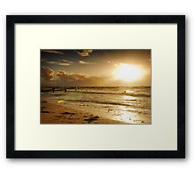 Golden Sunset at Busselton Framed Print