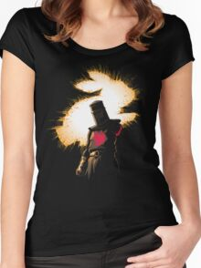 The Black Knight Rises Women's Fitted Scoop T-Shirt