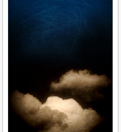 Clouds in a scratched darkness Sticker