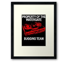 Watergate Bugging Team Framed Print