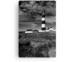 St John's Point, Lighthouse Mono Canvas Print