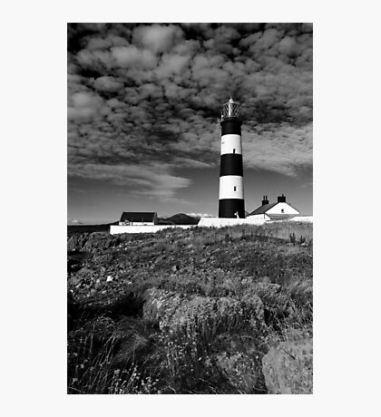 St John's Point, Lighthouse Mono Photographic Print