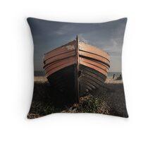 Derelict boat Throw Pillow
