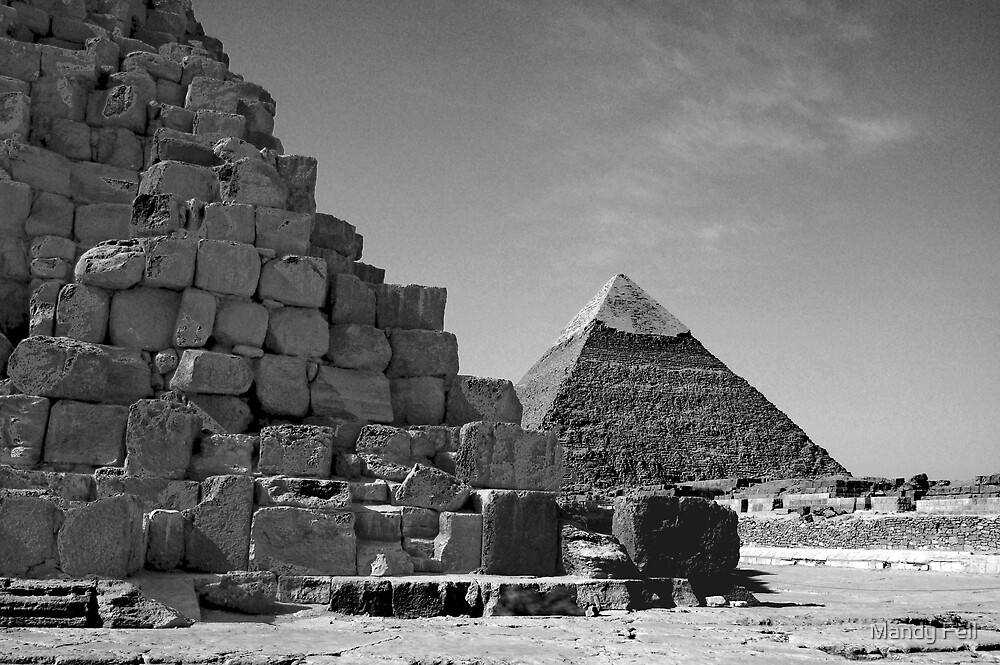 Morning Giza of pyramids by Mandy Fell