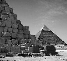 Morning Giza of pyramids by Mandy Fell