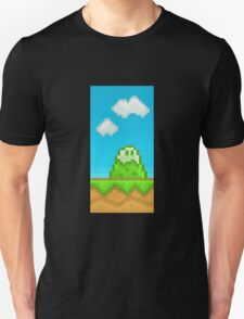 Glitch Homes Wallpaper eightbit wall T-Shirt