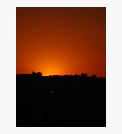 Jordan sunset Photographic Print