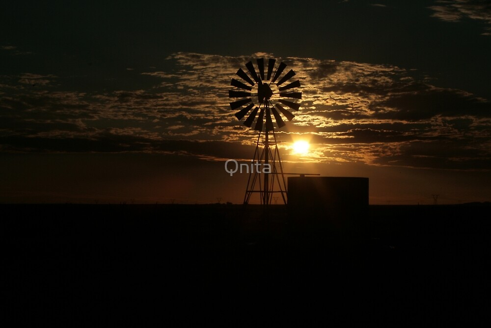 Free State Sunset At The Mill... South Africa by Qnita