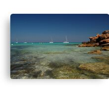 The beaches of Formantara Canvas Print