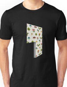 Glitch Homes Wallpaper forest papercut left open Unisex T-Shirt