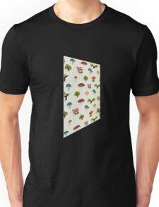 Glitch Homes Wallpaper forest papercut left Unisex T-Shirt