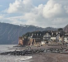 Cafe In The Rocks at Sidmouth Devon UK by lynn carter