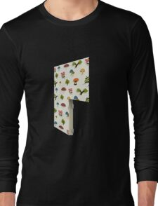Glitch Homes Wallpaper forest papercut right divide Long Sleeve T-Shirt