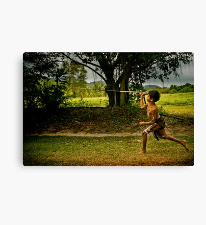 Spear Throwing Canvas Print