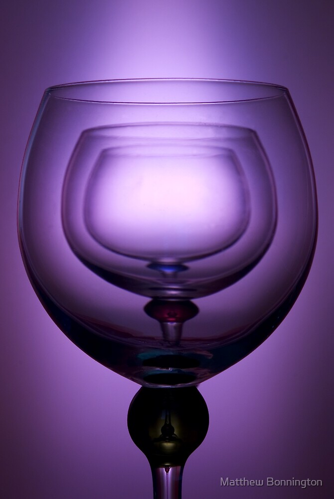 Purple glass still life by Matthew Bonnington