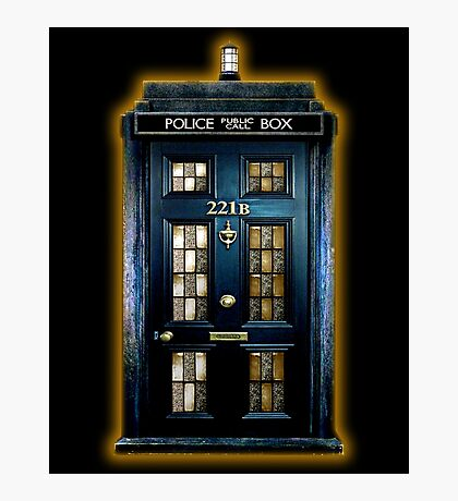 Blue Phone Box With B Number Photographic Print