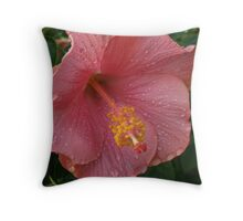 Hybiscus Flower Throw Pillow