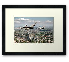 Two Lancasters over Lincoln Framed Print