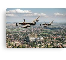 Two Lancasters over Lincoln Canvas Print