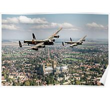 Two Lancasters over Lincoln Poster