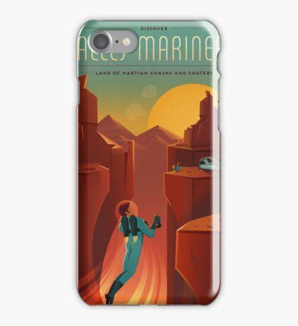 Art Deco Travel Poster - Valles Marineris (SpaceX) iPhone Case/Skin