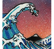 Great Wave at Night Stencil Art Photographic Print
