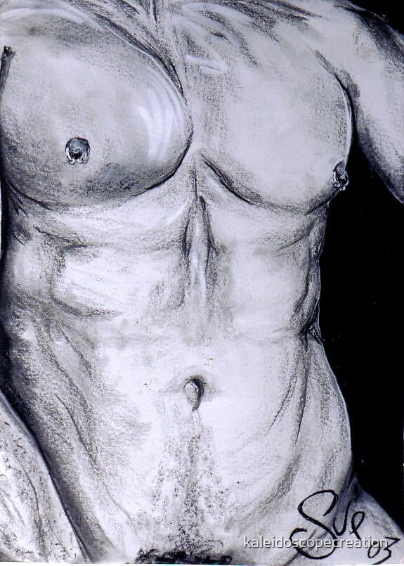 pierced torso by kaleidoscopecreation