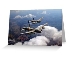Two Lancasters on tour Greeting Card