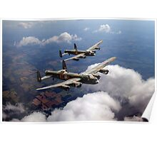 Two Lancasters on tour Poster