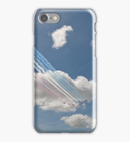 Red arrows on display. iPhone Case/Skin