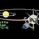 Rosetta + Philae + 67P/Churyumov–Gerasimenko by GaffaMondo