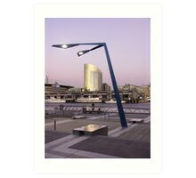 View from Docklands, Melbourne, Australia Art Print