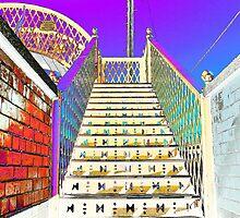 Railway Steps Whitehead by Wrayzo