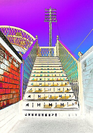 Railway Steps Whitehead by Wrayzo