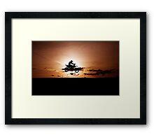 Motor X silhouette Framed Print