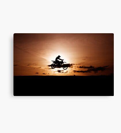Motor X silhouette Canvas Print