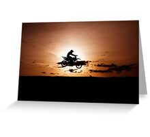 Motor X silhouette Greeting Card
